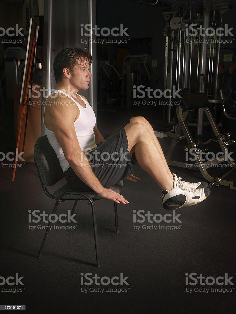 Abdominal Chair exercise stock photo