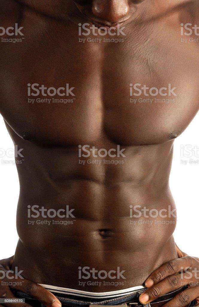 Fotografía de Músculo Abdominal De Hombre Negro y más banco de ...