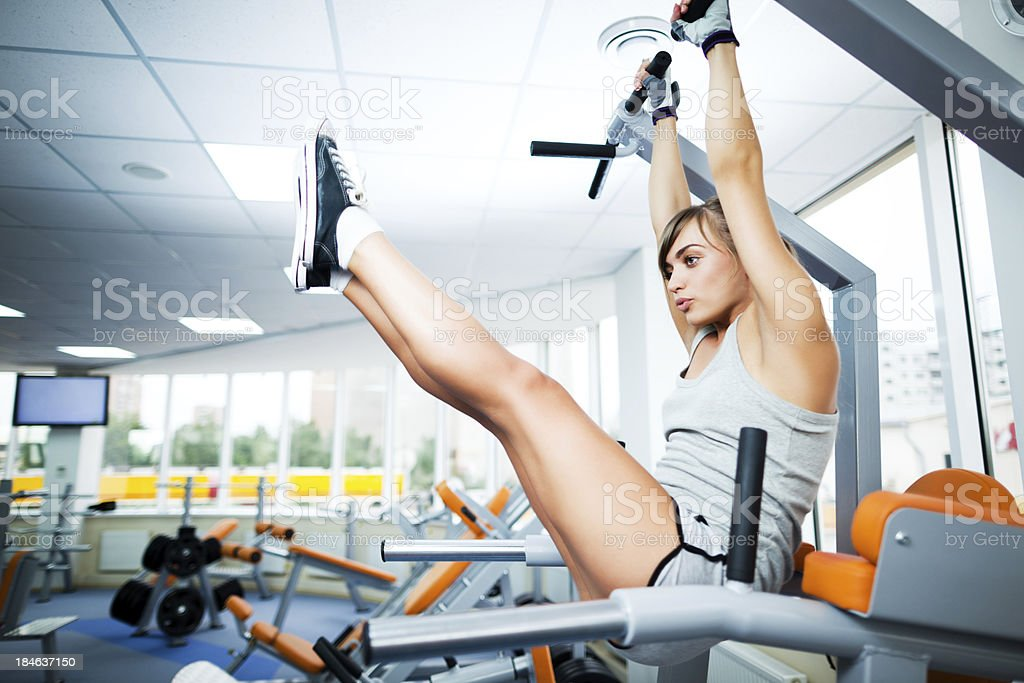 Abdominal muscles training royalty-free stock photo