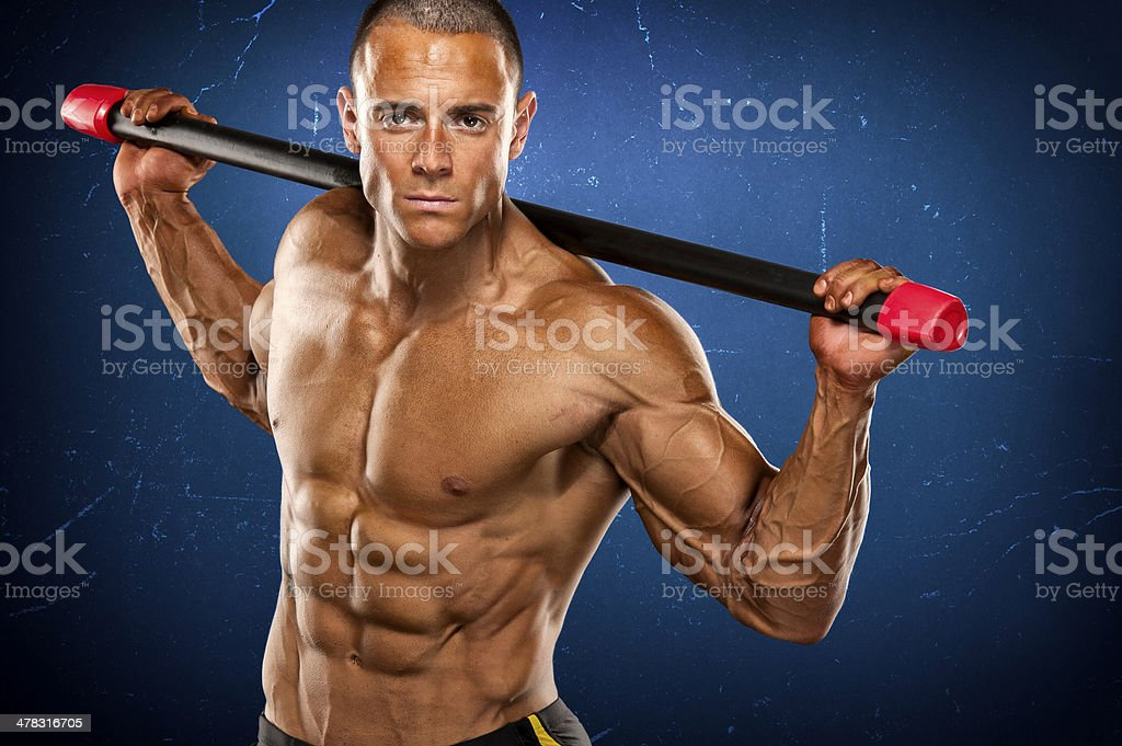 Abdominal Muscles Workout royalty-free stock photo