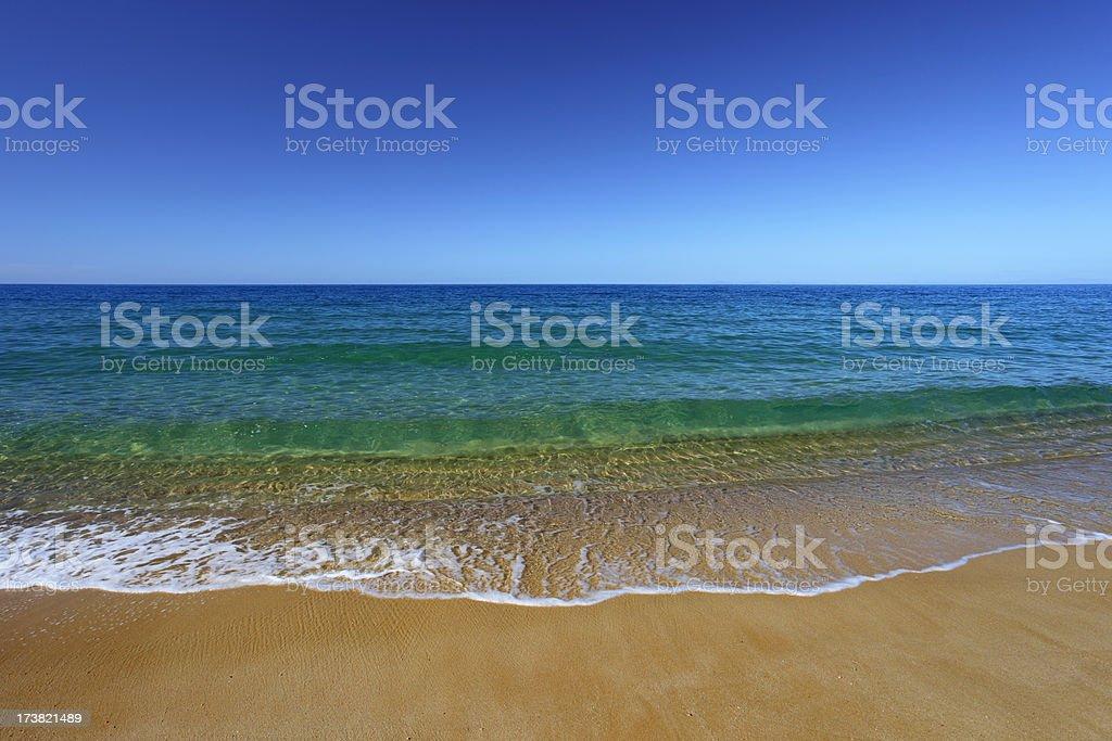 Abel Tasman beach, New Zealand (XXXL) royalty-free stock photo