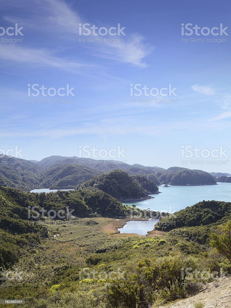 Abel Tasman National Park in Neuseeland Lizenzfreies stock-foto