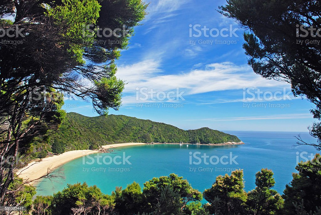 Abel Tasman National Park, New Zealand stock photo
