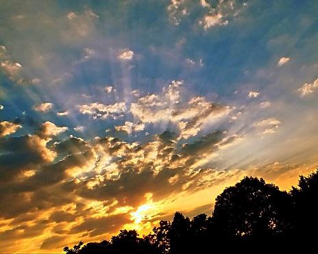 Abendhimmel Stockfoto und mehr Bilder von Abenddämmerung