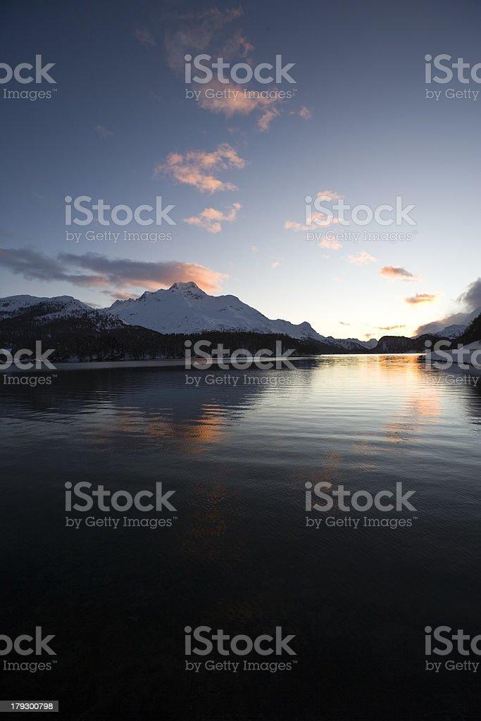 Abendstimmung am Silsersee royalty-free stock photo