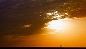 sun setting in Masai Mara, Kenya