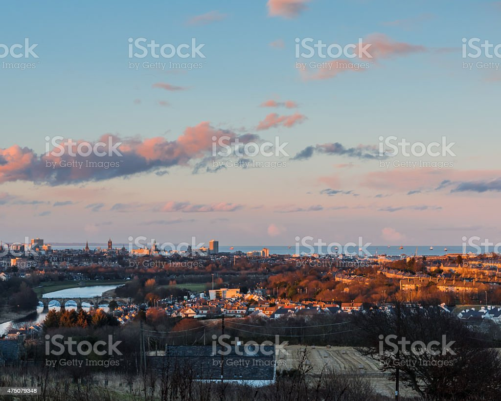 Aberdeen at Sunset stock photo