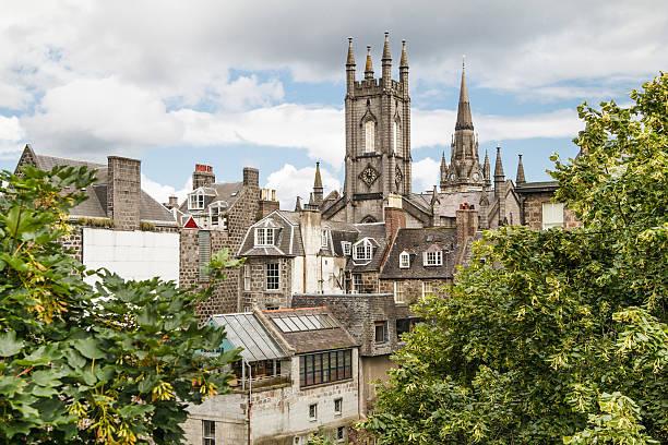 Aberdeen city centre stock photo
