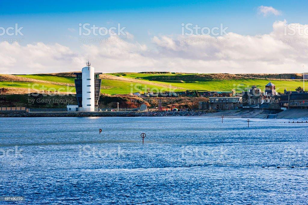 Aberdeen Marine control centre, Scotland stock photo