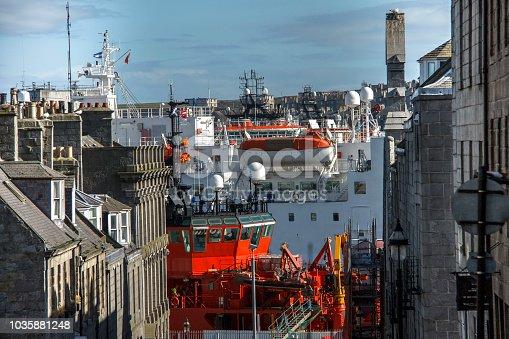 Harbour in Aberdeen, Aberdeenshire, Scotland, UK
