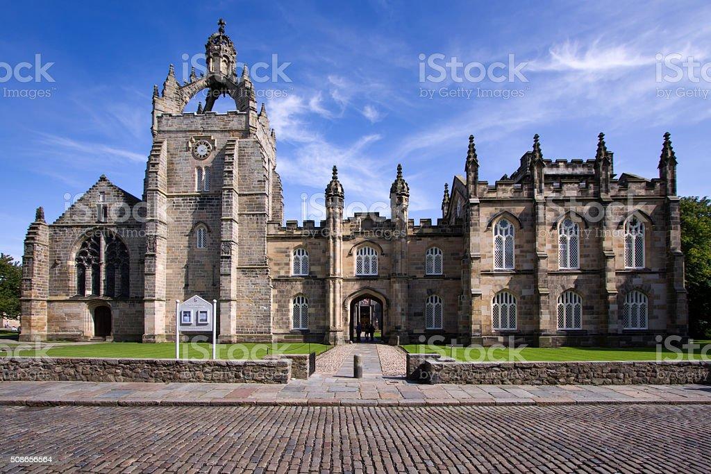 Aberdeen University King's College Chapel Building stock photo