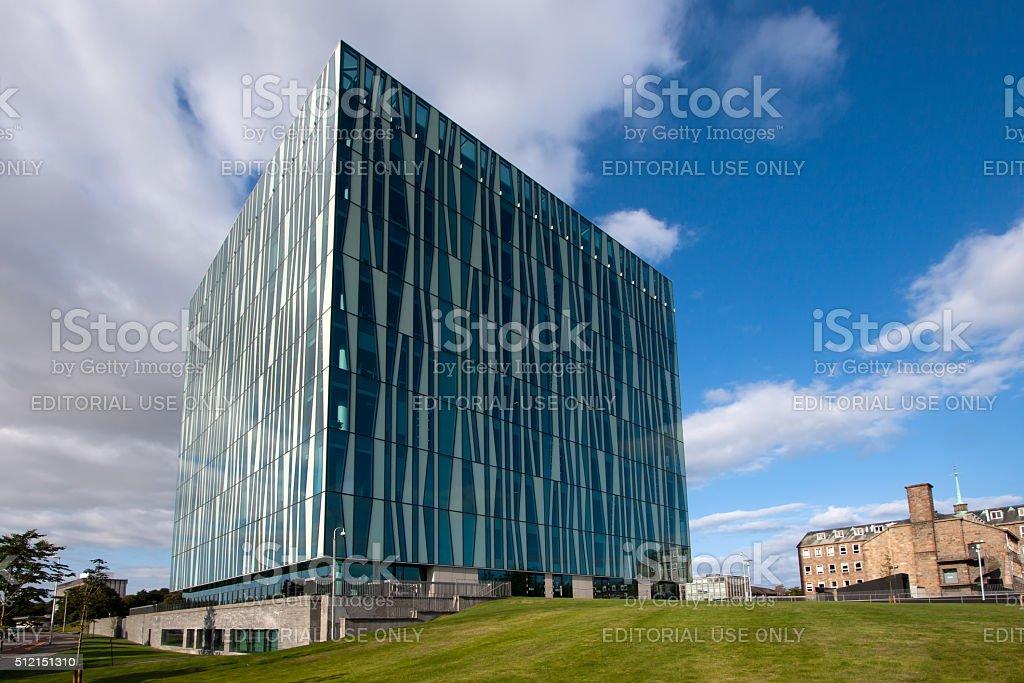 Aberdeen University Sir Duncan Rice Library, Aberdeenshire, Scotland stock photo