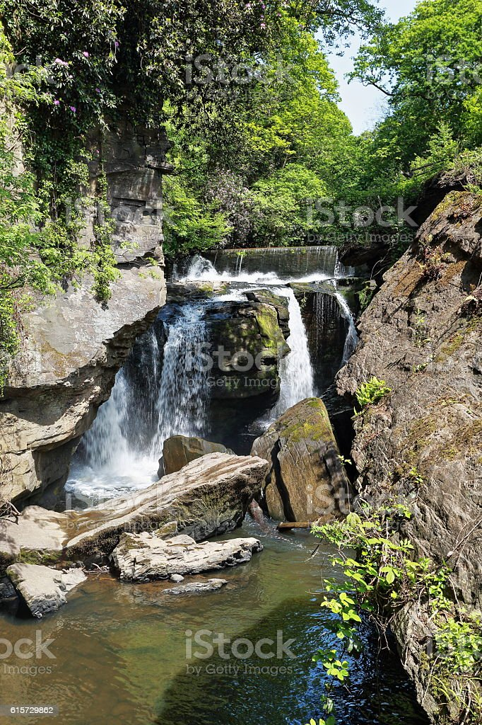 Aberdulais Falls - Brecon Beacons - South Wales stock photo