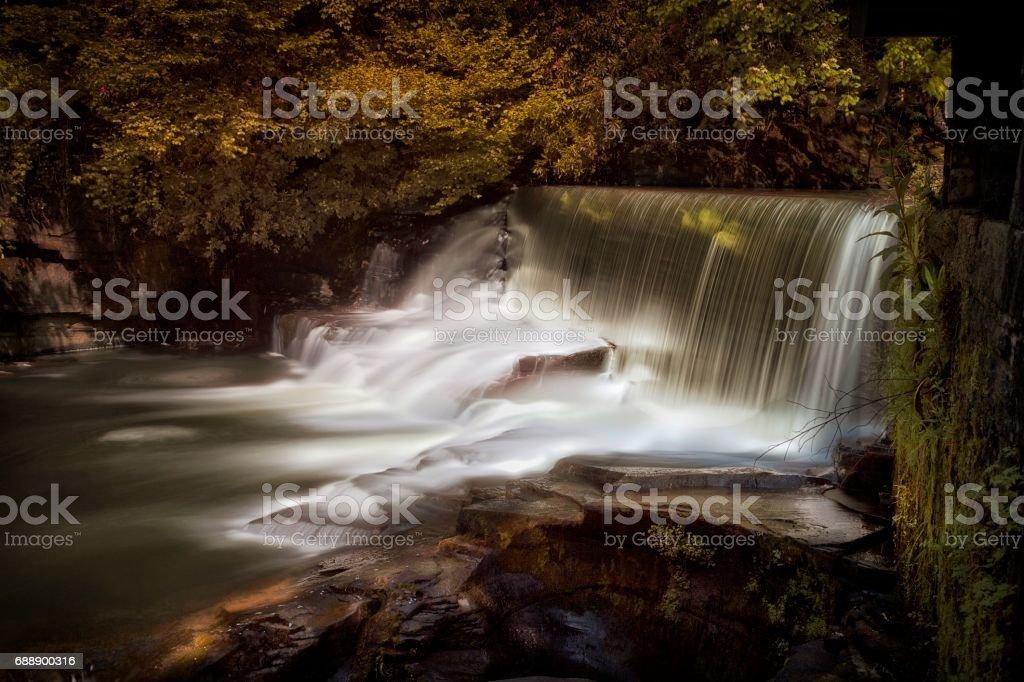 Aberdulais waterfalls stock photo