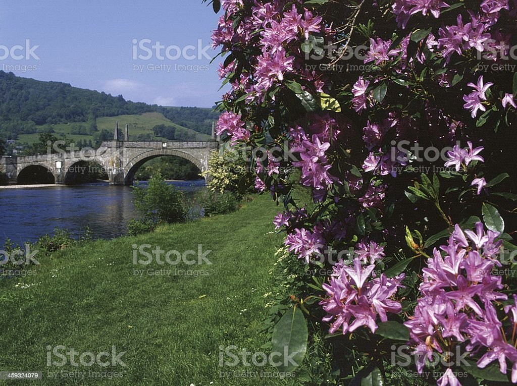 Aberfeldy: Wade Bridge and River Tay stock photo