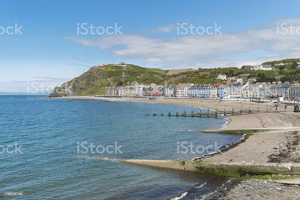 Aberystwyth Beach stock photo