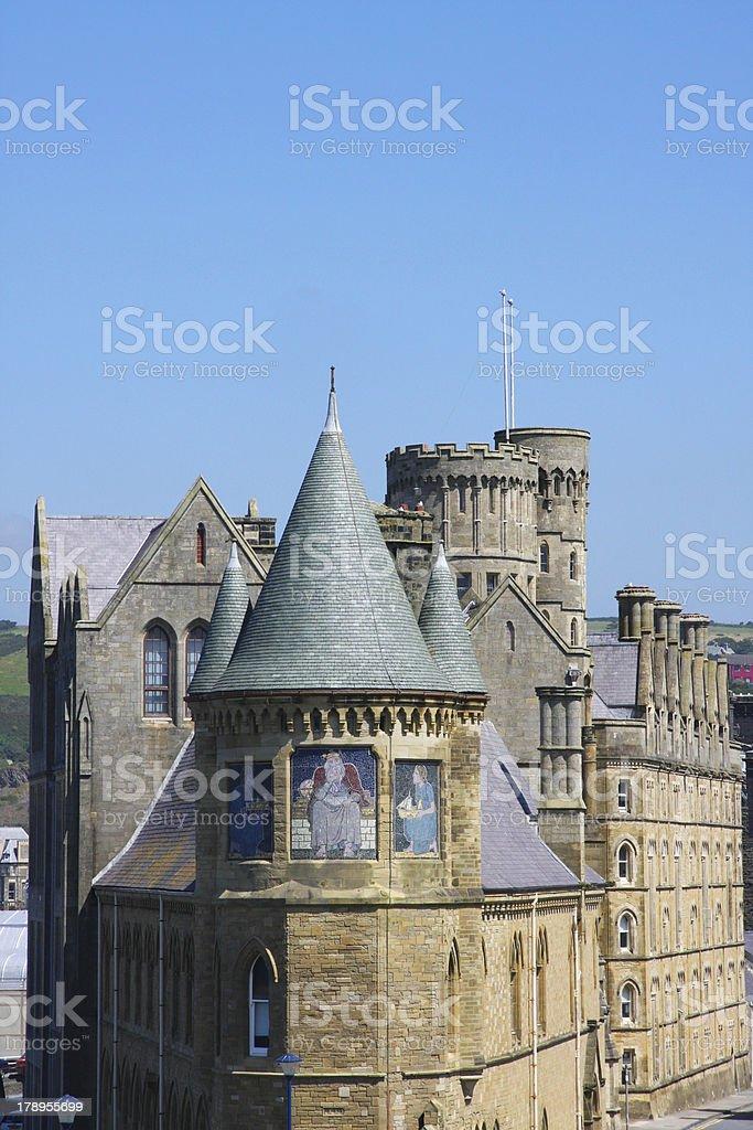 Aberystwyth Gothic University College stock photo