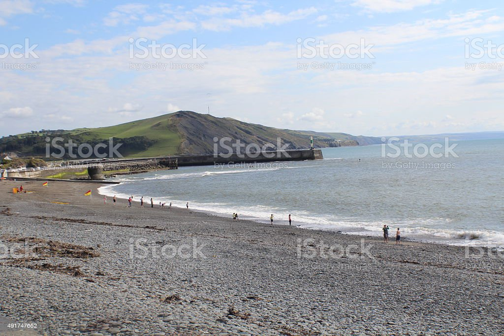 Aberystwyth Landscape stock photo