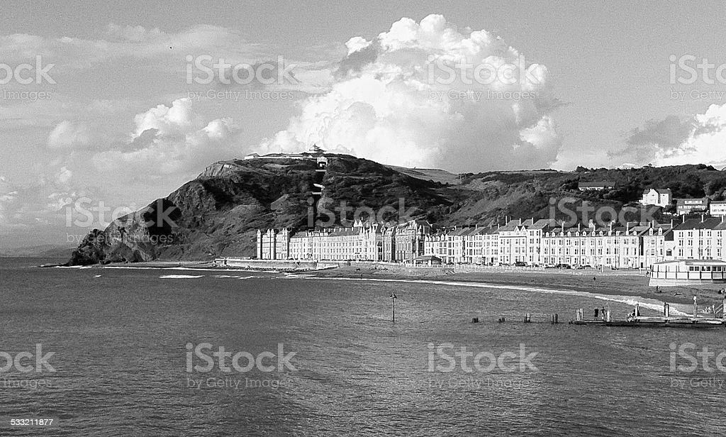 Aberystwyth Promenade stock photo