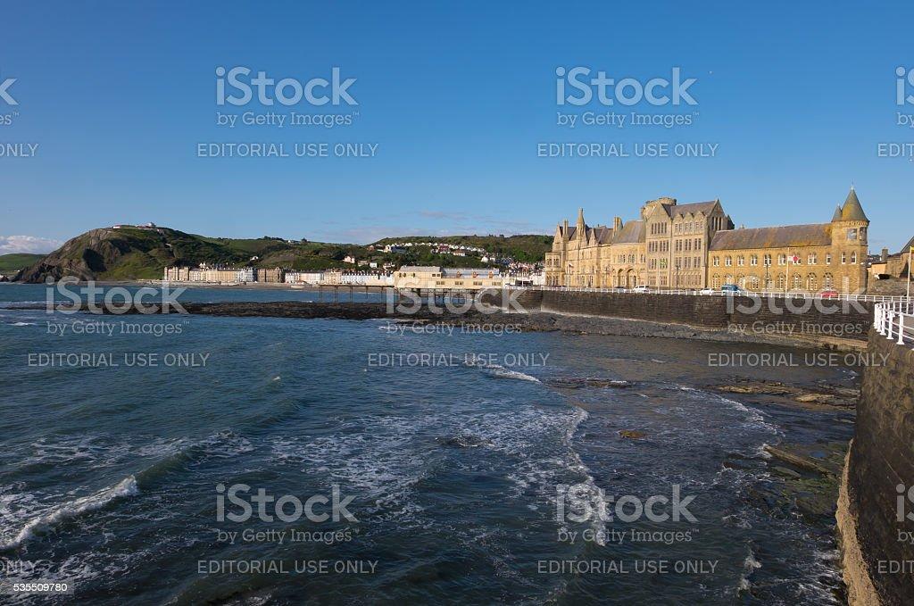 Aberystwyth sea front stock photo