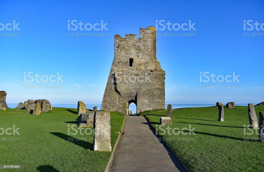 Aberystwyth town castle stock photo