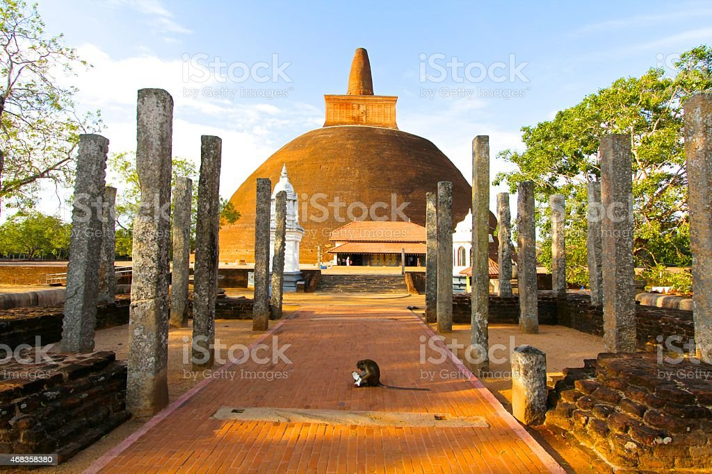 Abhayagiri Stupa, Sri Lanka royalty-free stock photo
