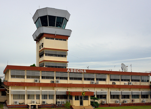 Abidjan Airport air traffic control tower - Félix-Houphouët-Boigny International Airport, Abidjan, Ivory Coast