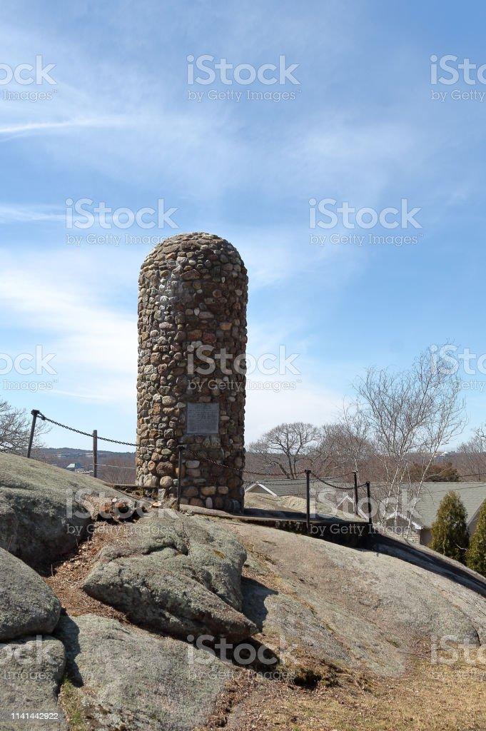 Abigail Adams Cairn in Quincy, Massachusetts. stock photo