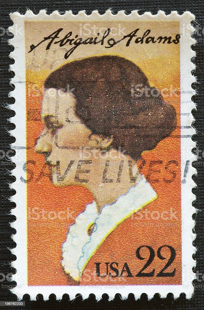 Abigail Adams Postage Stamp stock photo