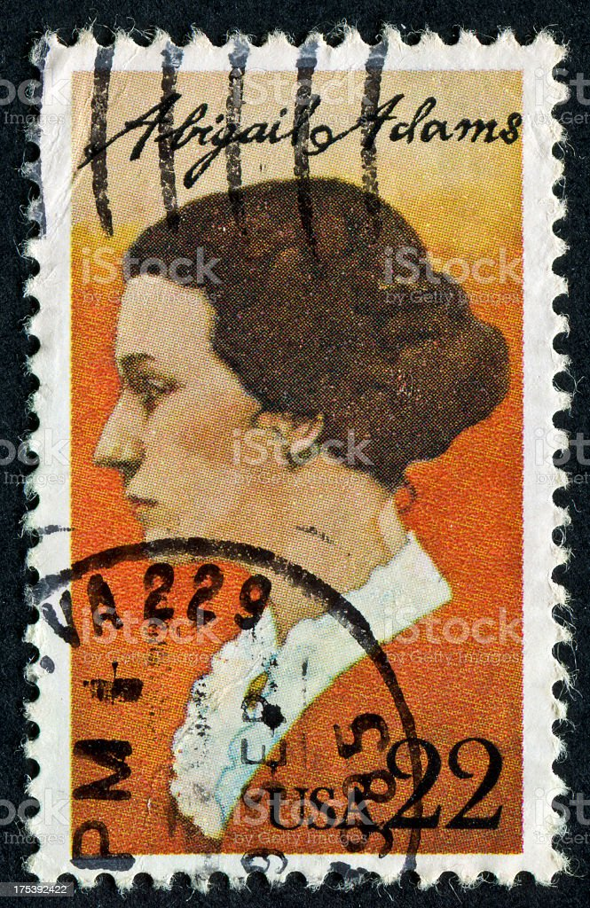 Abigail Adams Stamp stock photo