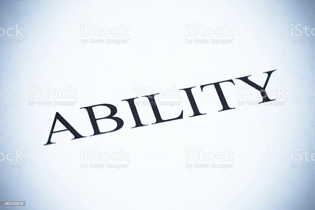 Ability - SeleniumTone stock photo