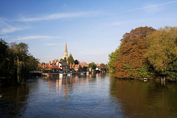 Abingdon View from The Thames stock photo