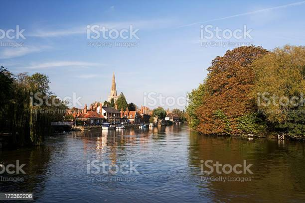 Abingdon View From The Thames Stock Photo - Download Image Now