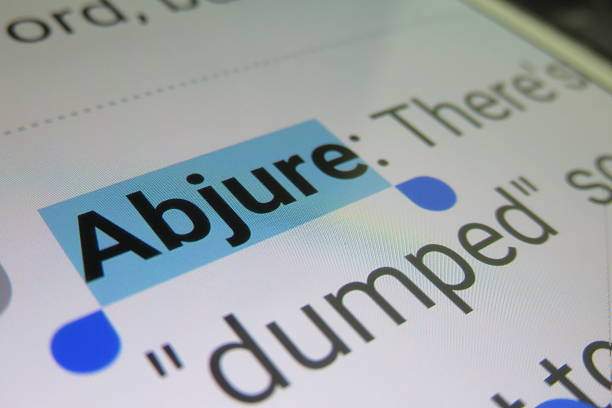 Abjure- dictionary definition Abjure- dictionary definition abjure stock pictures, royalty-free photos & images