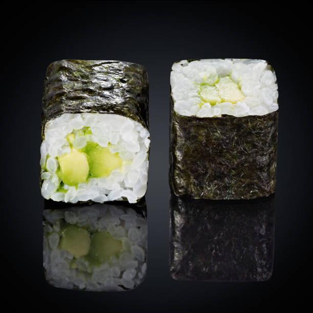 abogado roru rolls with avocado stock photo