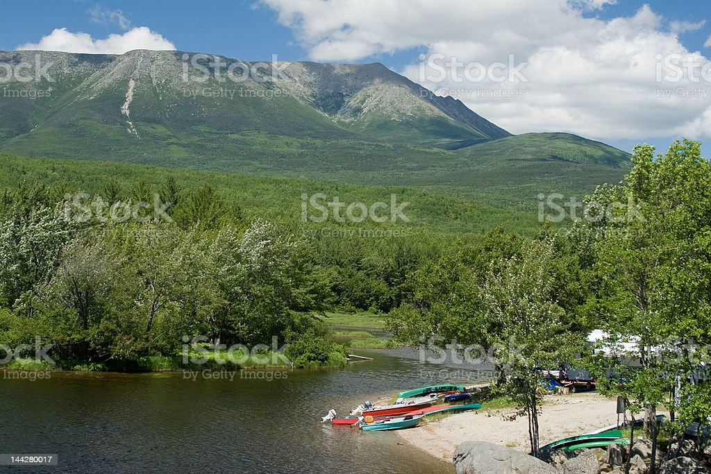 Abol Campground stock photo