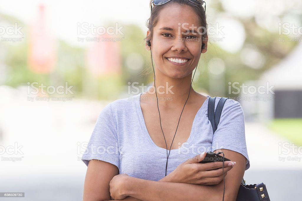 Aboriginal Australian woman portrait stock photo