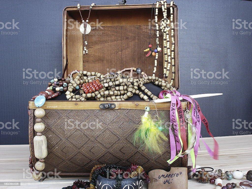 aboriginal box, with brazilian gifts royalty-free stock photo