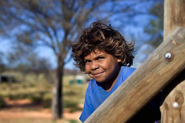 Aboriginal Child stock photo