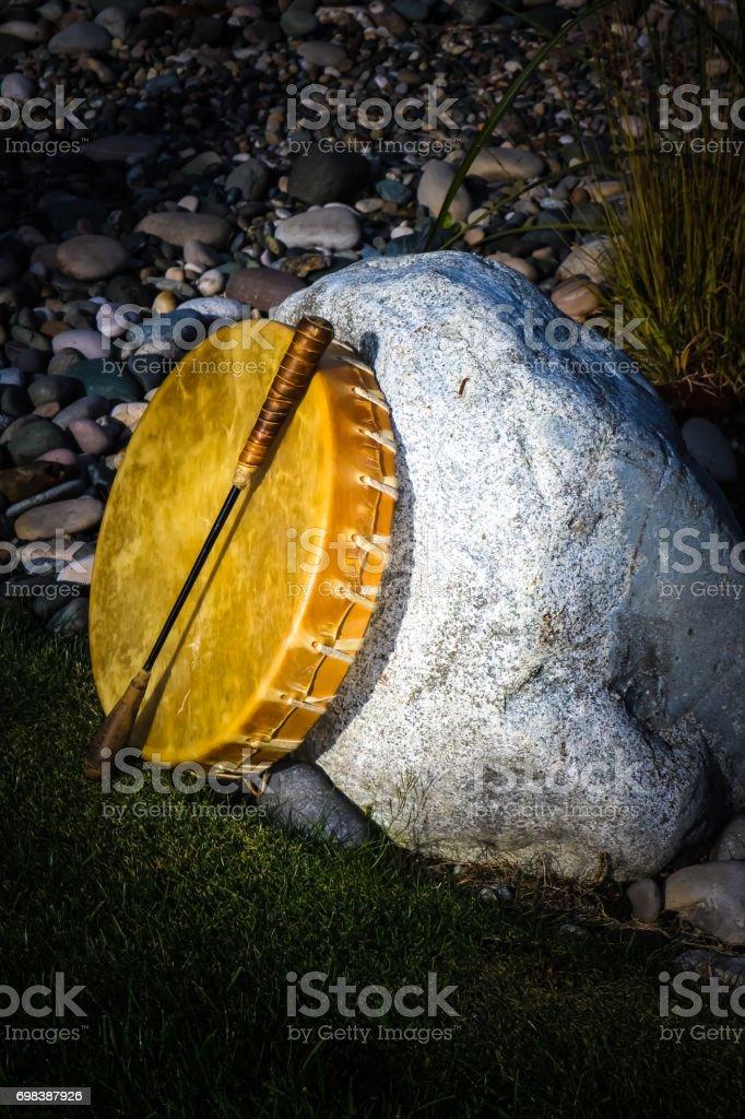 Aboriginal Drum stock photo