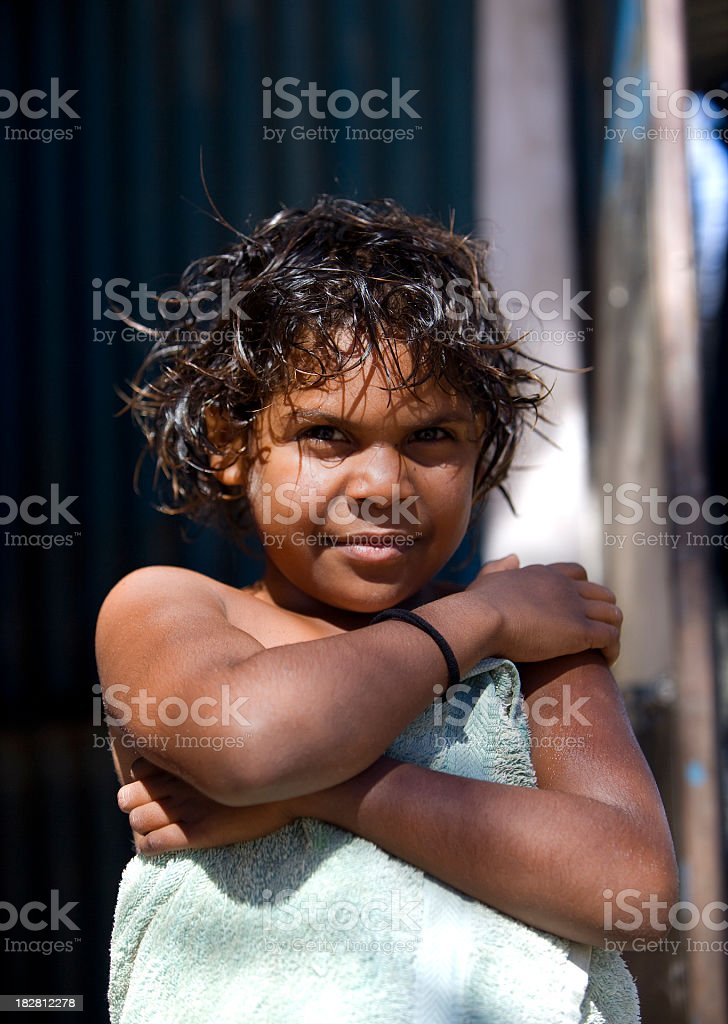 Aboriginal Girl royalty-free stock photo