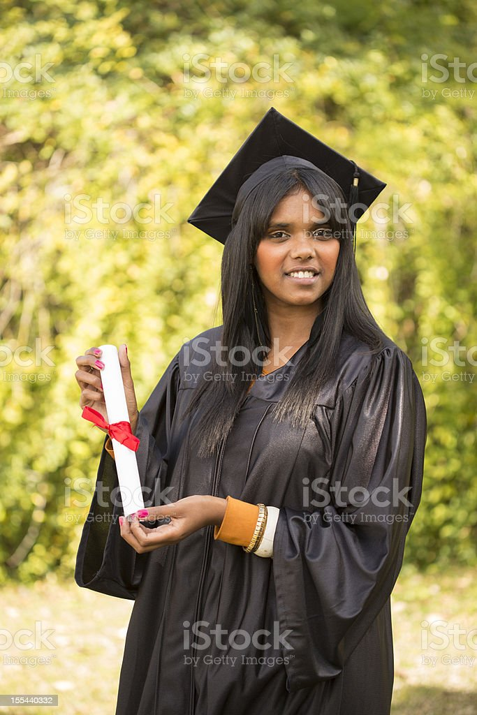 Aboriginal Graduate stock photo