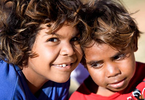 Aboriginal Kids stock photo