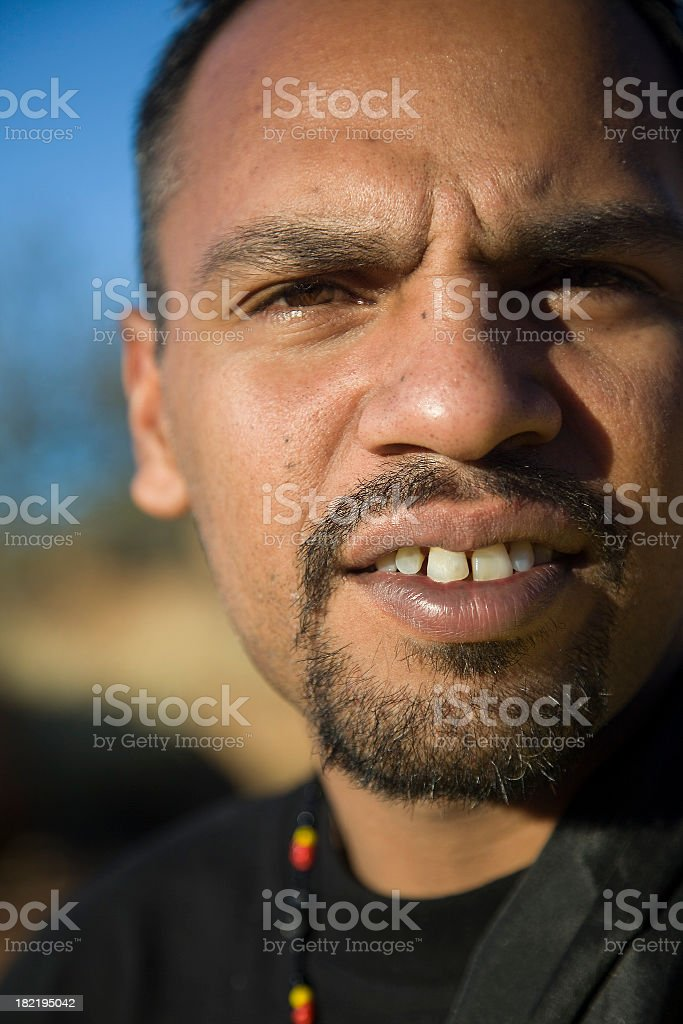Aboriginal Man royalty-free stock photo