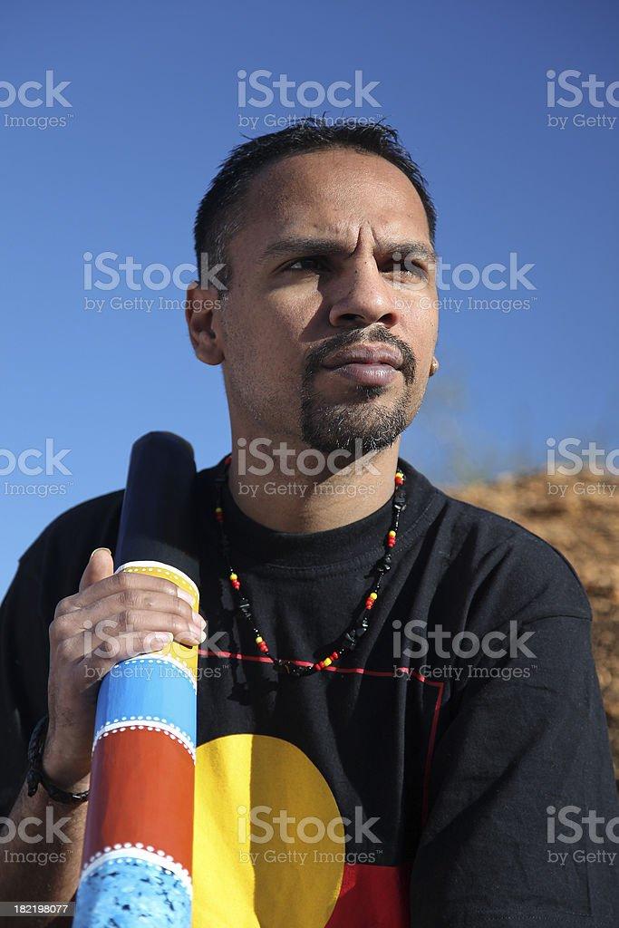 Aboriginal Man stock photo