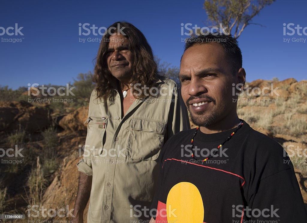 Aboriginal Men stock photo