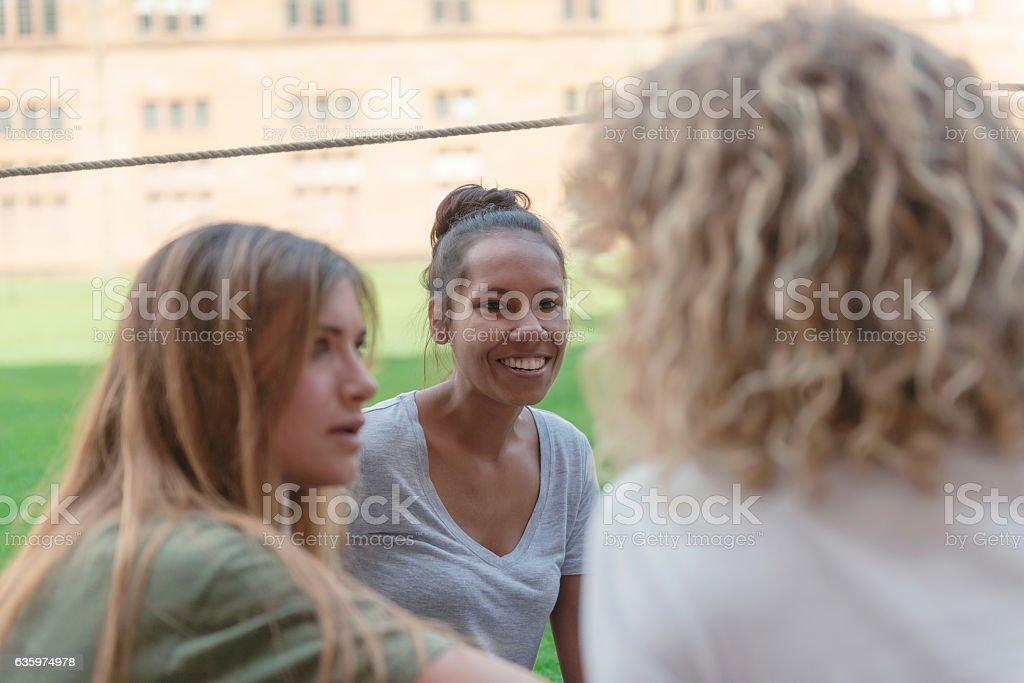 Aboriginal scholar at the campus stock photo