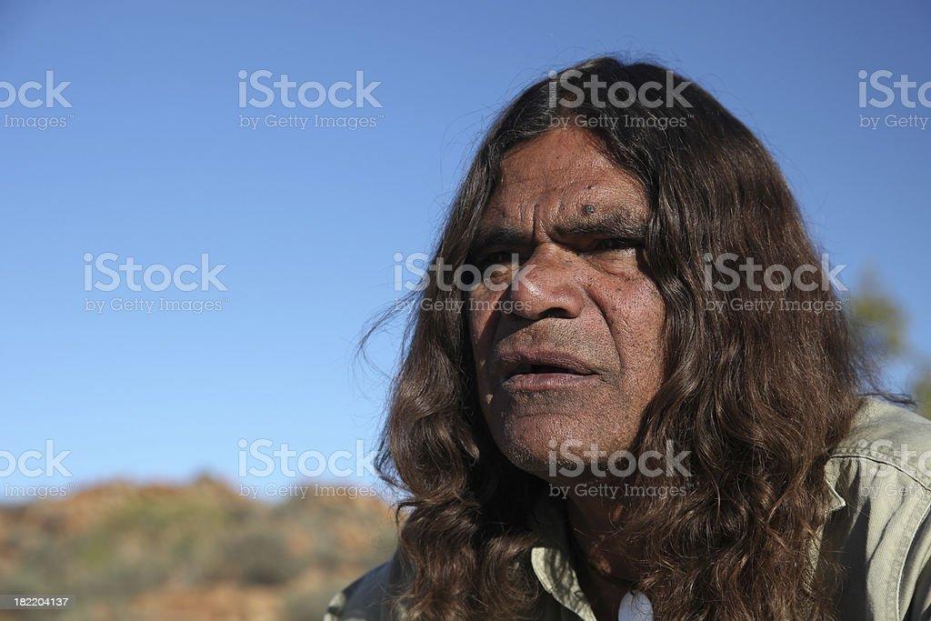 Aboriginal Senior Man stock photo