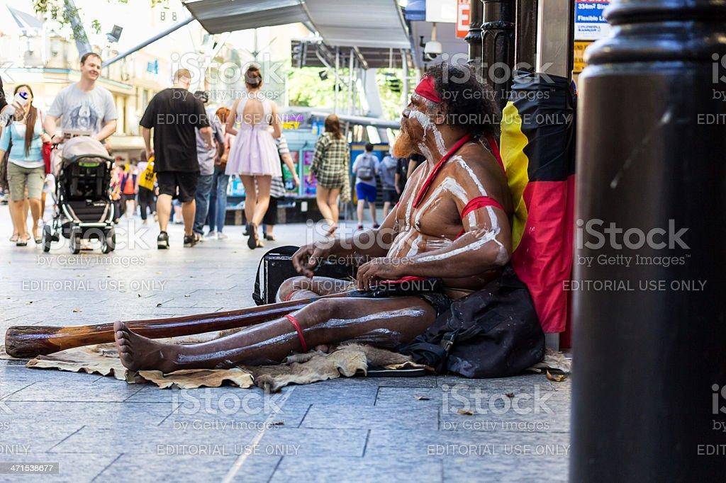 Aboriginal street performer royalty-free stock photo
