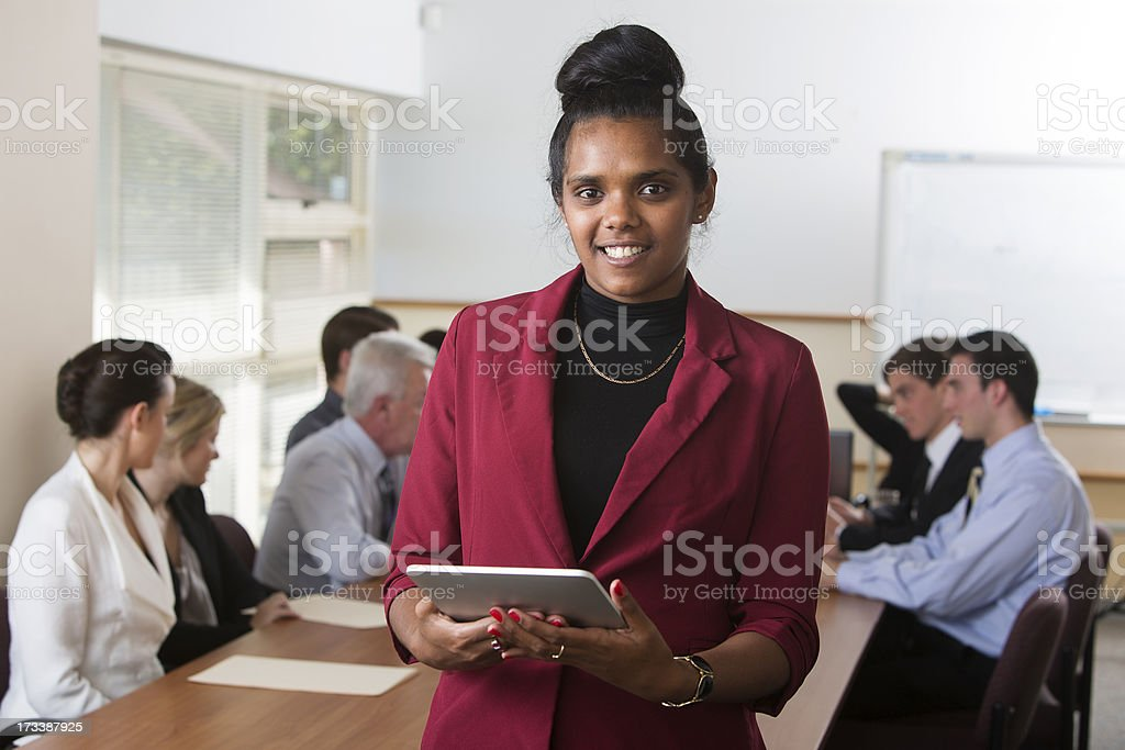 Aboriginal Tablet Computer Staff stock photo